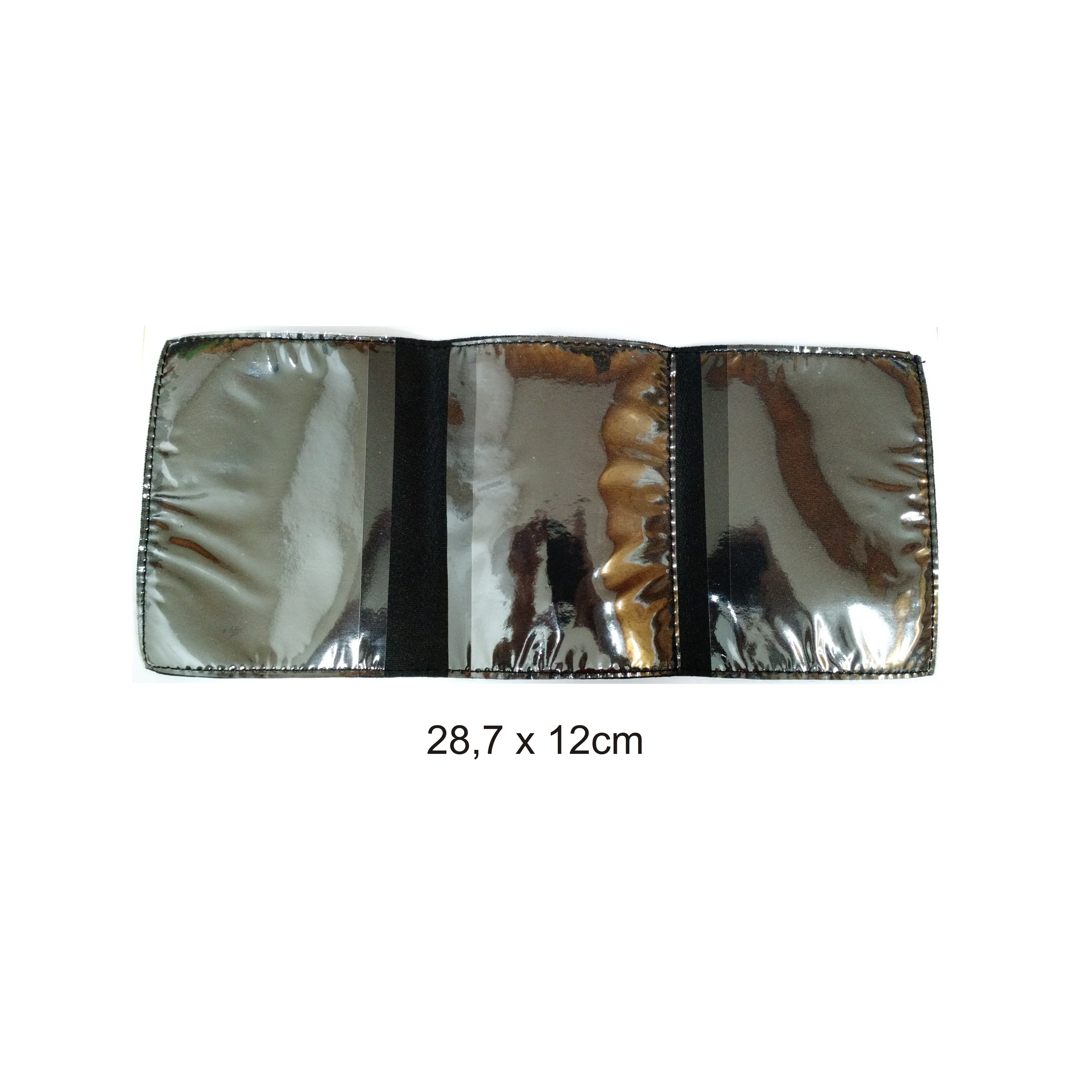 Art 258 – portacedula triple de bolsillo, eco cuero negro (ABIERTO)